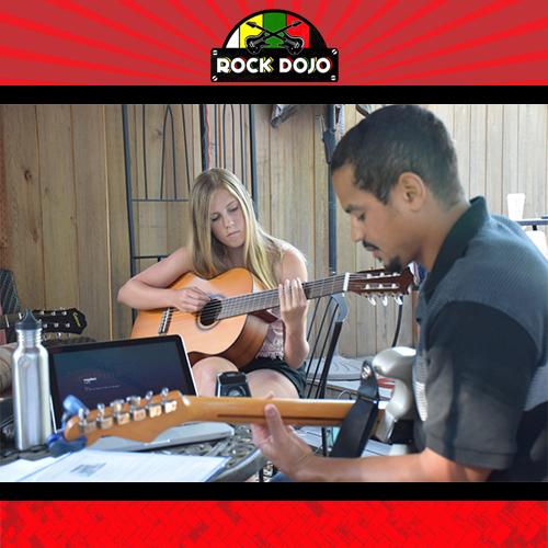 Rock Dojo Group Guitar Class in Action