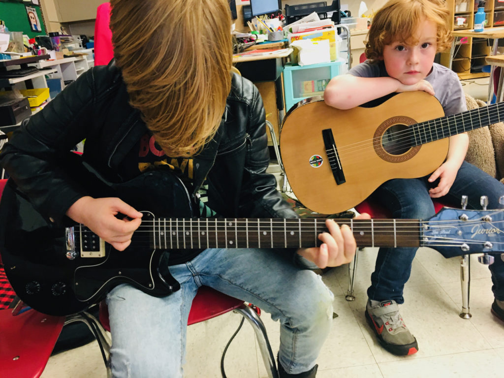 Kids Playing Guitar