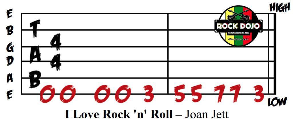 I Love Rock 'n' Roll Guitar Tab