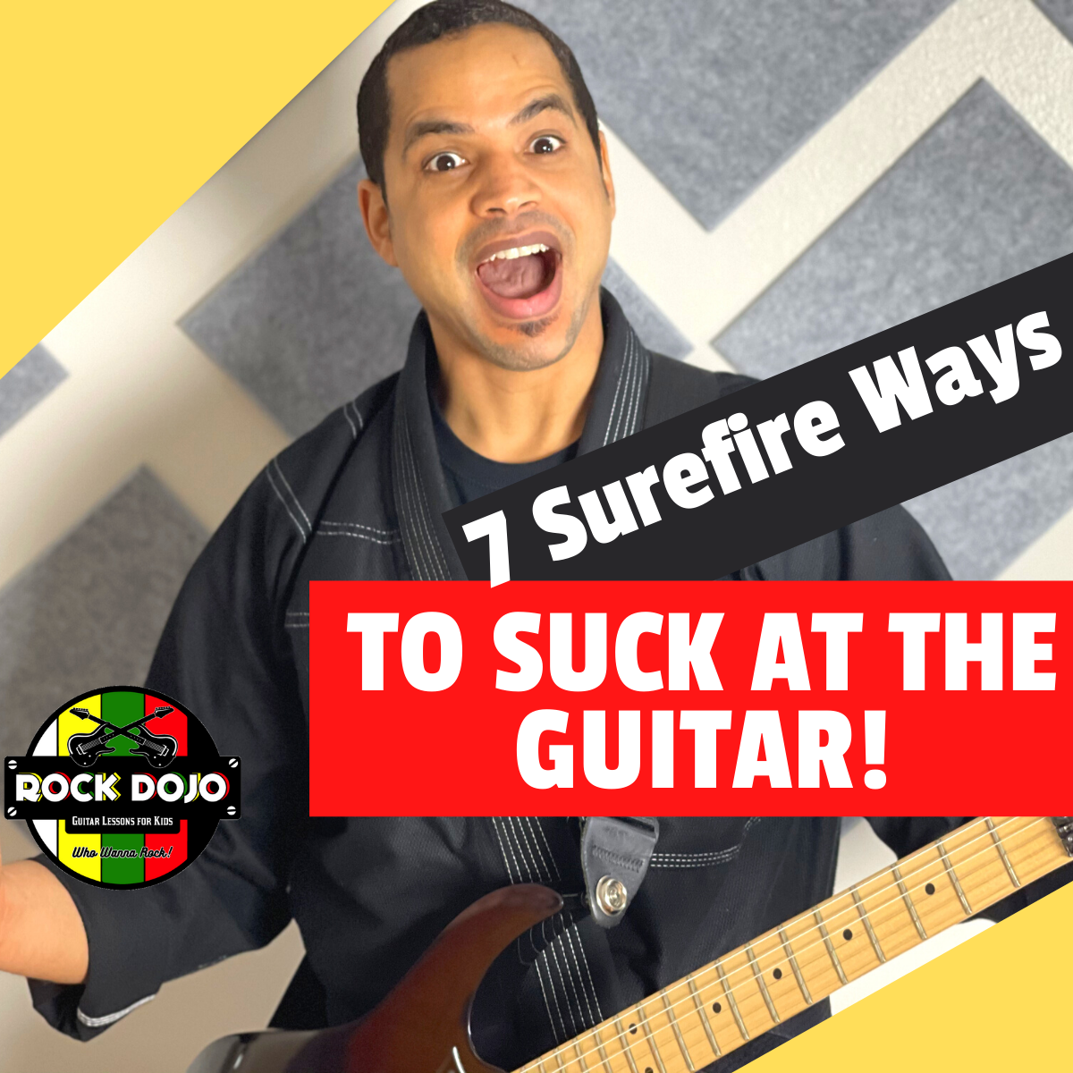 Learn the best way to suck at the guitar
